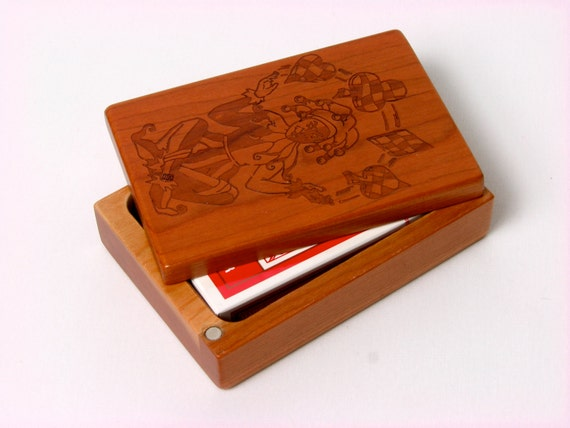 Wooden Card Box—Solid Cherrywood—Laser Engraved,  Paul Szewc, Masterpiece Gallery
