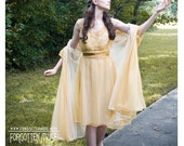 DEAL of the day - 1950s 50s - gold champagne two piece honeymoon bridal peignoir - size L XL