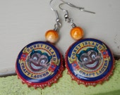 Funky, Fun, Slightly Creepy Bottle Cap Earrings