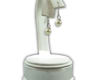 Sally Cultured Pearl Earrings with Sterling Silver French Wires