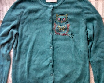 Owl embroidered sweater