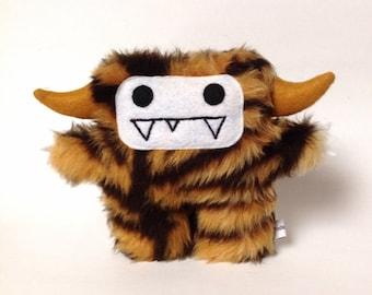 Monster plush tiger; Tiku the plush monster tiger