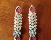 Bollywood Matching Earrings to headpiece ... Reserved for N ... Balance