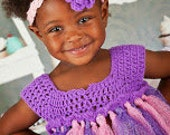 Hand Crocheted tutu dress