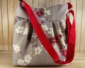 Crossbody bag Diaper Bag Messenger Bag Floral Shoulder Bag Quilted School Teacher Bag Travel bag Canvas Weekender Bag LIMITED EDITION
