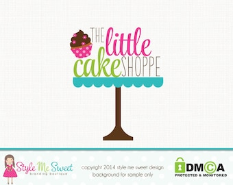 cake stand logo cupcake logo design premade logo design bakery logo design bakers logo design graphic design bespoke logo design watermark