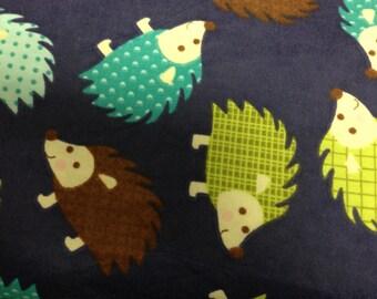 Happy Hedgehog - FLANNEL - BTY