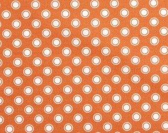 Dots and Circles - Rust and Cream - Quilting Cotton