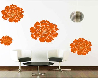 Hibiscus Flower Wall Decals Floral Wall Decor Tropical
