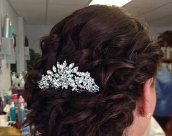 Vintage Inspired  Pearls bridal hair comb, Swarovski pearl hair comb, wedding hair comb, bridal hair accessories, wedding hair accessories