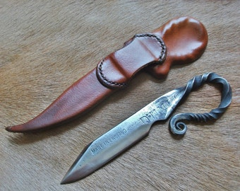 Custom Deluxe hand forged Viking knife made to order