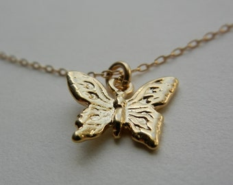 Little Butterfly II Necklace (Gold)