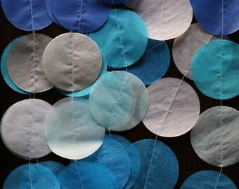 Tissue Paper Garland, Paper Garland, Party Garland, Birthday Garland, Wedding Garland, Photo Backdrop- Frozen