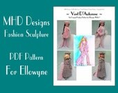 "PDF Download MHD Designs ""Vent D'Automne"" Fashion Pattern for Ellowyne"
