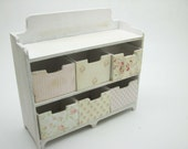 Shabby Chic counter whit drawers baby pink decor