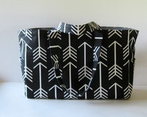 MADE TO ORDER Arrow Diaper Bag, School Bag, Work Bag, with Waterproof lining, available in two colors