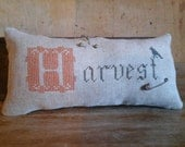 primitive stitch  sampler H is for Harvest pin pillow pin cushion Country Rustic Primitives