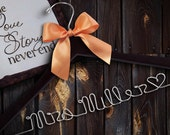 SALE Personalized Wedding Dress Hanger/ Brides Hanger/ Bride/ Name Hanger/ Wedding Hanger / 47 ribbon colors
