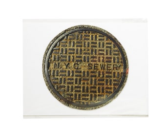 NY Sewer Drain Photo Magnet