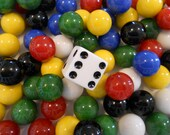 24 Glass Marbles Aggravation Marbles 6 player
