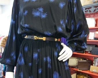 Vintage 1970s Dandelion Print Dress