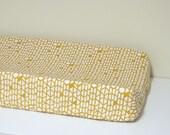 Baby Changing Pad Cover - Arizona - Canyon Walls - Contoured - White and Mustard Yellow