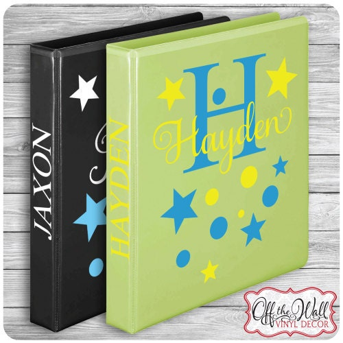 Personalized Name Decal DIY For School Binders Folders