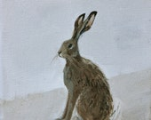 "Hare painting 5"" x 7"""
