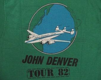 JOHN DENVER 1982 tour T SHIRT