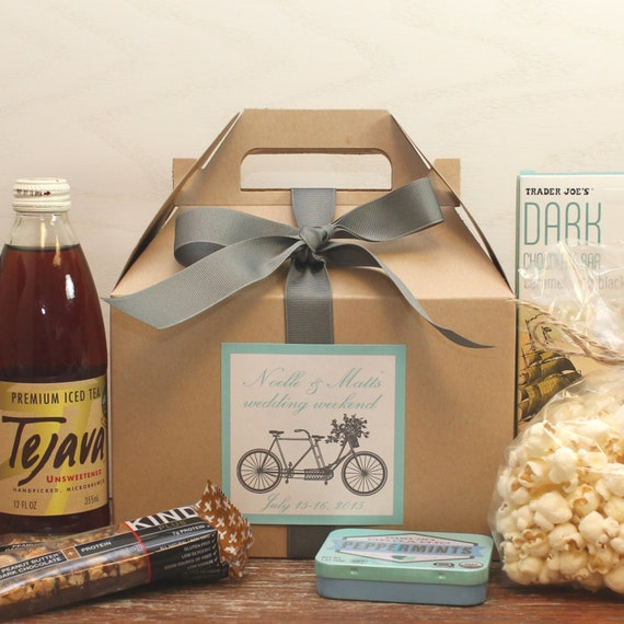 Gift Bags Wedding Out Of Town Guests: Set Of 6 Out Of Town Guest Box ANY COLOR // Wedding