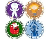 Baby's First Holiday Stickers, My First Christmas, My First Thanksgiving, My First Halloween, and More, Monthly Baby Stickers (NM001)