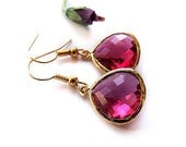 dazzling pink - gorgeous pink glamour estate style earrings
