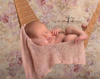 Crochet baby hammock photography prop