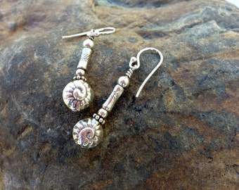 Thai Silver Nautilus Earrings
