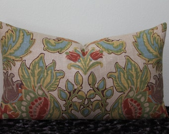 "Kravet Lutron Vintage - 12"" x 20"" or 12"" x 22"" Decorative Designer Lumbar Pillow Cover"