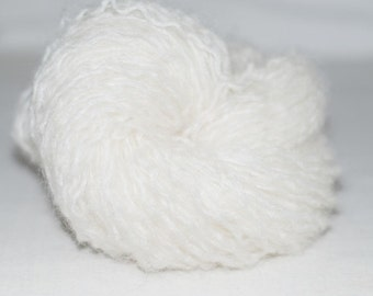Off White Mohair Recycled Yarn, 93 yards, Bulky Weight