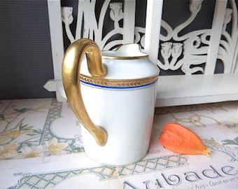 French Vintage Art deco  Porcelain ' LIMOGES milk jug , pitcher 1930