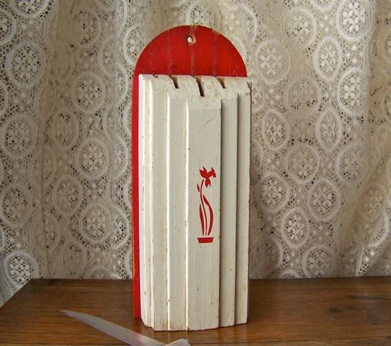 Vintage Kitchen Knife Holder Nuway By CynthiasAttic On Etsy