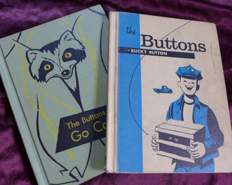 Bucky Buttons and The Buttons Go Camping Set by Edith McCall and Jack Boyd