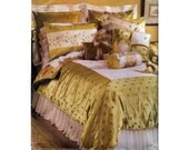 Vogue Sophisticated Bedroom Decor Sewing Pattern Duvet Cover Bedskirt Shams Pillow Covers UNCUT 7921 S