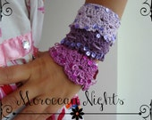 Crocheted Moroccan Cuff PDF Crochet Pattern - crocheted bracelet, crocheted cuff, shell bracelet, crocheted  accessory, a photo tutorial