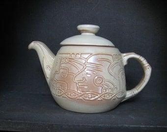 Cream Frankoma Tea Pot with Lid