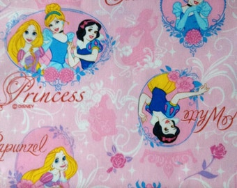 1M Disney princess fabric pink  color