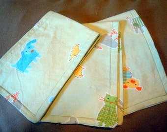 Soft cotton set of 3 burp cloths