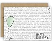 Birthday Card - Balloon - No. GCB002