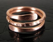 Spinning Copper Ring, Bohos Ring, Copper Stacking Ring, Any Size Made to Order Ring