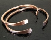 Handmade Hammered Copper Bracelet, Copper Cuff, Bangle, Bare Copper or Antiqued Patina Finish in Mens or Womens