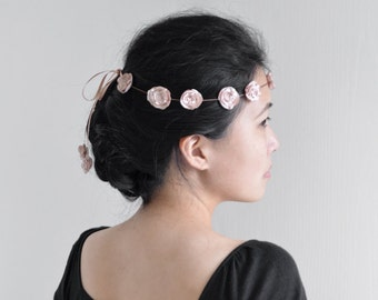 Something Soft - bridal flower crown, simple flower wedding headpiece. Ready to ship