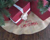 Christmas Tree Skirt, personalized - 43""