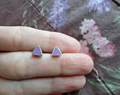 Violet Triangle Earrings